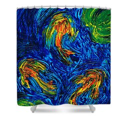 Impressionist Koi Fish By Sharon Cummings Shower Curtain by Sharon Cummings