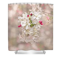 In A Moment Shower Curtain by Kim Hojnacki