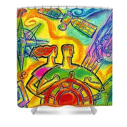 In Charge Shower Curtain by Leon Zernitsky