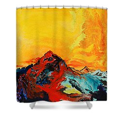 In Mountains Shower Curtain by Joseph Demaree