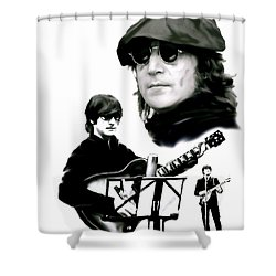 In My Life  John Lennon Shower Curtain by Iconic Images Art Gallery David Pucciarelli