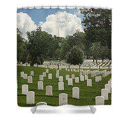 In Rememberance-arlington Shower Curtain by Kim Hojnacki