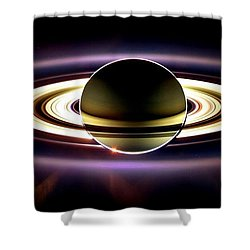 In Saturn's Shadow Shower Curtain by Benjamin Yeager