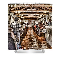 In Service Mission San Antonio De Pala By Diana Sainz Shower Curtain by Diana Sainz