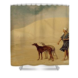 In The Desert Shower Curtain by Jean Leon Gerome