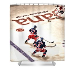 In The Game Shower Curtain by Karol Livote