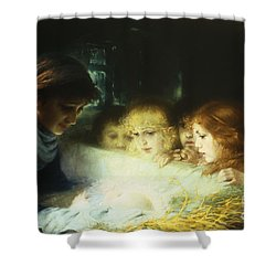In The Manger Shower Curtain by Hugo Havenith