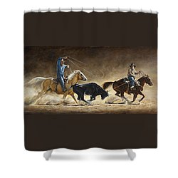 In The Money Shower Curtain by Kim Lockman