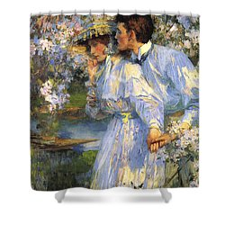 In The Springtime Shower Curtain by James Shannon