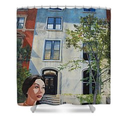 In The Way Of Spindrift Jan Bryant Bartell Shower Curtain by Barbara Barber