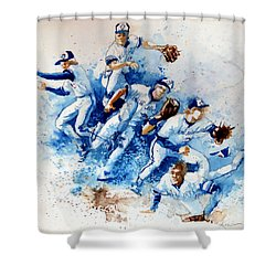 In The Zone Shower Curtain by Hanne Lore Koehler