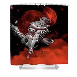 In Your World Shower Curtain by Carol Cavalaris