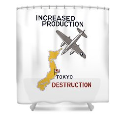 Increased Production - Tokyo Destruction Shower Curtain by War Is Hell Store