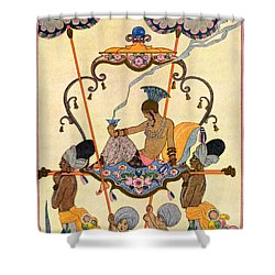India Shower Curtain by Georges Barbier