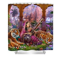 Indian Harmony Shower Curtain by Jan Patrik Krasny