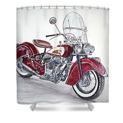 Indian Motorcycle Shower Curtain by Anthony Butera