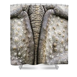 Indian Rhinoceros Tail Shower Curtain by Konrad Wothe