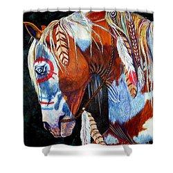 Indian War Pony Shower Curtain by Amanda Hukill
