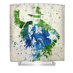 Indiana Jones  Shower Curtain by Aged Pixel