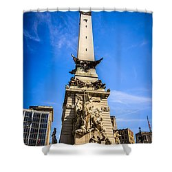 Indianapolis Indiana Soldiers And Sailors Monument Picture Shower Curtain by Paul Velgos
