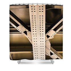 Industrial Metal Shower Curtain by Alexander Senin