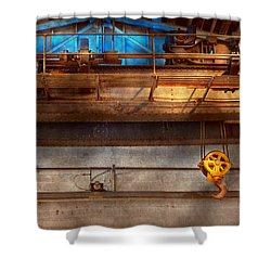 Industrial - The Gantry Crane Shower Curtain by Mike Savad