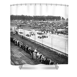 Indy 500 Auto Race Shower Curtain by Underwood Archives
