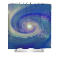 Infinity Blue Shower Curtain by First Star Art