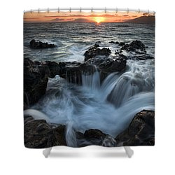 Influx Shower Curtain by Mike  Dawson