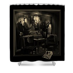 Inked In Forked Tongue Shower Curtain by Barbara St Jean
