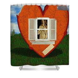 Inner Beauty Shower Curtain by Jeff Kolker