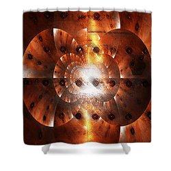 Inner Strength - Abstract Art Shower Curtain by Carol Groenen