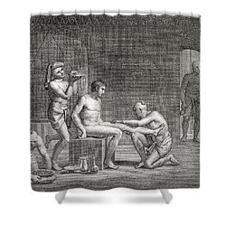 Inside An Egyptian Bathhouse, C.1820s Shower Curtain by Dominique Vivant Denon