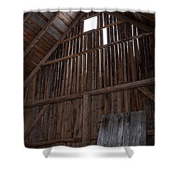Inside An Old Barn Shower Curtain by Edward Fielding