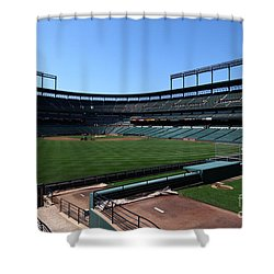 Inside Oriole Park Shower Curtain by James Brunker