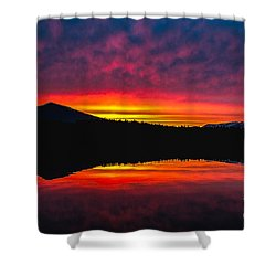 Inside Passage Sunrise Shower Curtain by Robert Bales