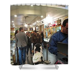 Inside World Famous Pawn Shop Shower Curtain by Kay Novy