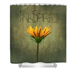 Inspired Shower Curtain by Kim Hojnacki