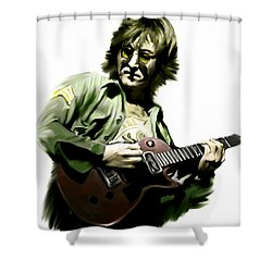 Instant Karma  John Lennon Shower Curtain by Iconic Images Art Gallery David Pucciarelli