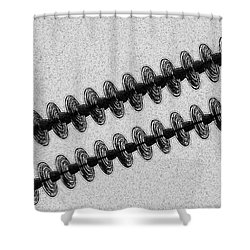 Insulators Hard Bw Shower Curtain by Chalet Roome-Rigdon