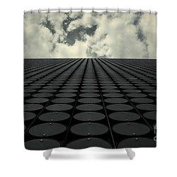 Interdimensional Shower Curtain by Andrew Paranavitana