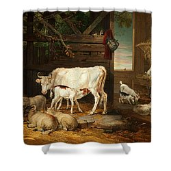 Interior Of A Stable, 1810 Shower Curtain by James Ward