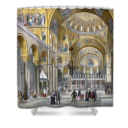 Interior Of San Marco Basilica, Looking Shower Curtain by Italian School