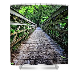 Into The Jungle  Shower Curtain by Edward Fielding