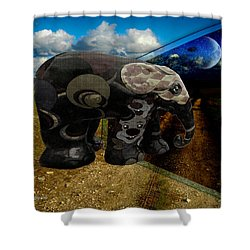 Into The Night Shower Curtain by EricaMaxine  Price
