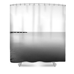 Into The Nothing Shower Curtain by CJ Schmit