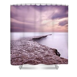 Into The Ocean Shower Curtain by Jorge Maia