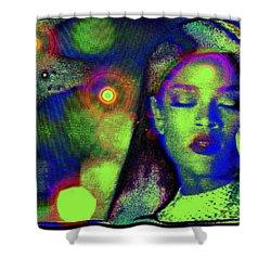 Intonation..... Rihanna Shower Curtain by Susanne Still