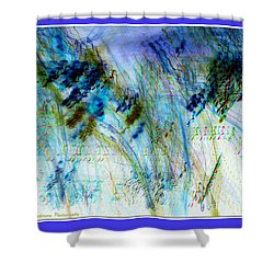 Inverted Light Abstraction Shower Curtain by Chris Anderson
