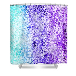 Iphone Purple And Blue Abstract Shower Curtain by Debbie Portwood